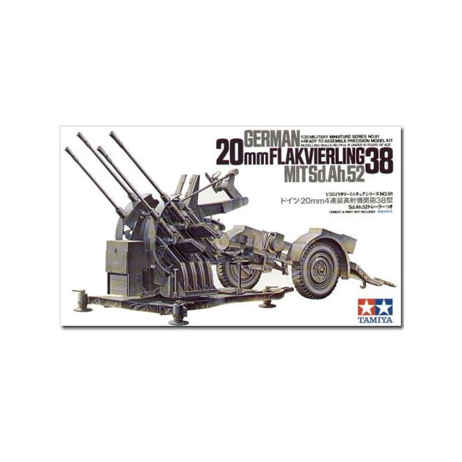 Tamiya 1/35 German 2cm Flakvierling 38 Model Kit