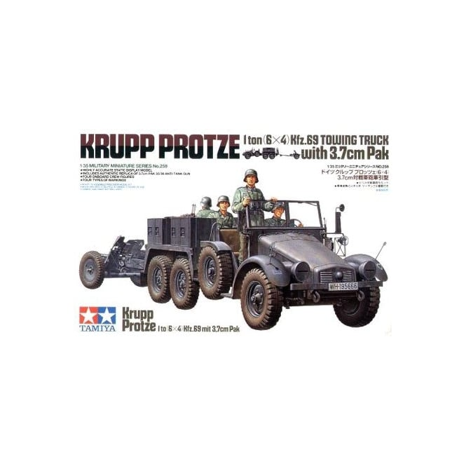 Tamiya 1/35 Krupp Towing Truck With 37Mm Pak