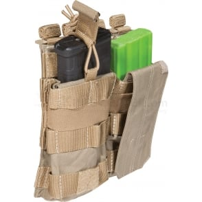 5.11 Tactical AR Mag Pouch with Cover Double - Sandstone