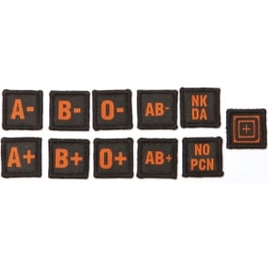 5.11 Tactical Blood Type Patch Kit Black/Orange