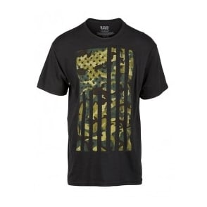 5.11 Tactical Camo Flag Tee Black
