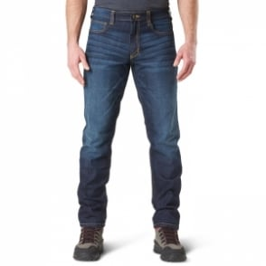"5.11 Tactical Defender-Flex Jean Short Leg (30"") - Dark Wash Indigo"
