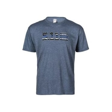5.11 Tactical Legacy Blue Flag Fill Tee - Navy Heather