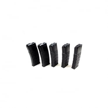 85rds M4/M16 Polymer Magazine Box of 5 Black
