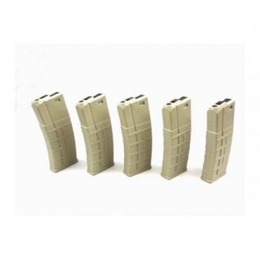 85rds M4/M16 Polymer Magazine Box of 5 Desert Tan