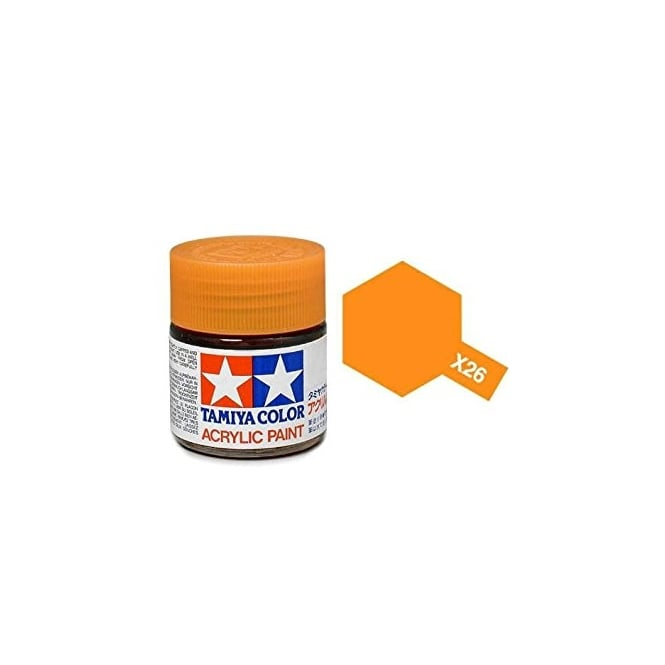 Tamiya Acrylic Paint Mini X-26 Clear Orange
