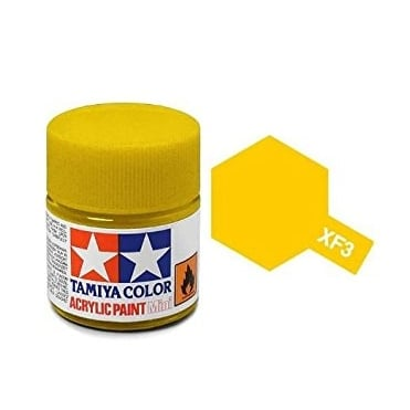 Acrylic Paint Mini XF-3 Flat Yellow
