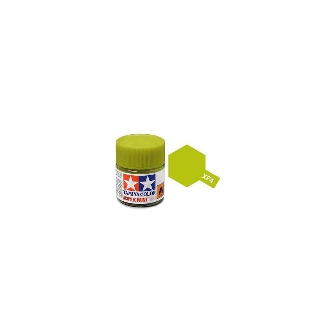 Tamiya Acrylic Paint Mini XF-4 Yellow Green