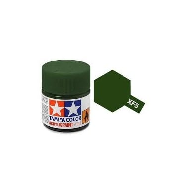 Acrylic Paint Mini XF-5 Flat Green