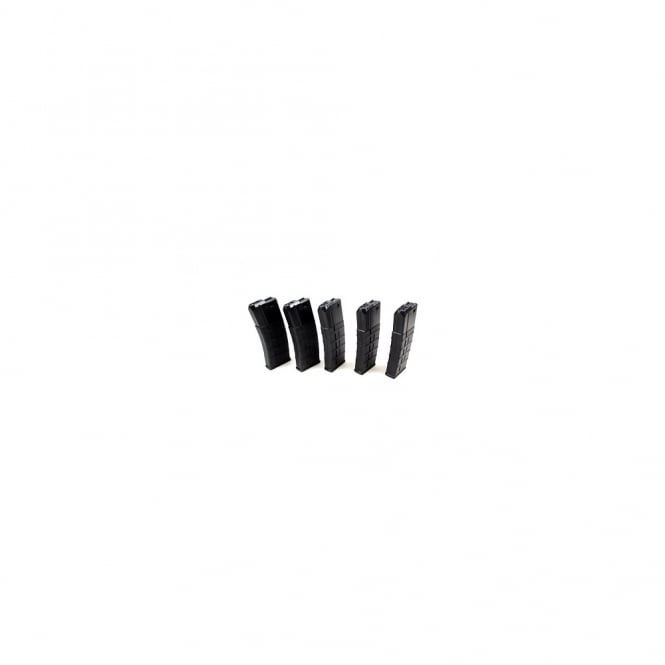 Airsoft Systems 85rds M4/M16 Polymer Magazine Box of 5 Black