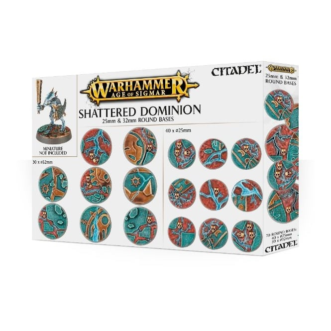 Games Workshop AOS Shattered Dominion 25 & 32mm Round Bases