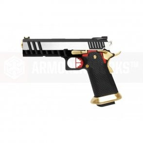 Armorer Works Custom Hi-Capa GBBP - Silver Slide / Gold Barrel / Full Auto