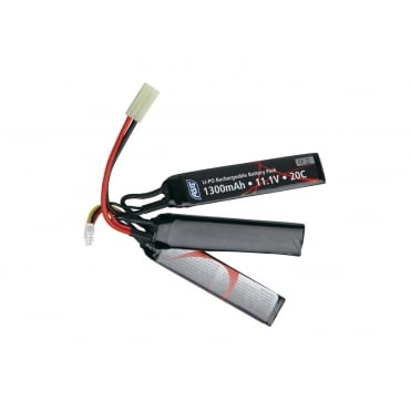 ASG 11.1V 1300mAh 20C LiPo Battery Pack 3-split