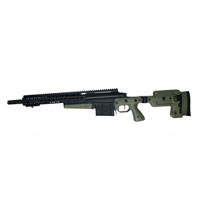 ASG Accuracy International MK13 MOD 7 Compact Sniper Rifle - Black/Olive Drab - Pre-Order