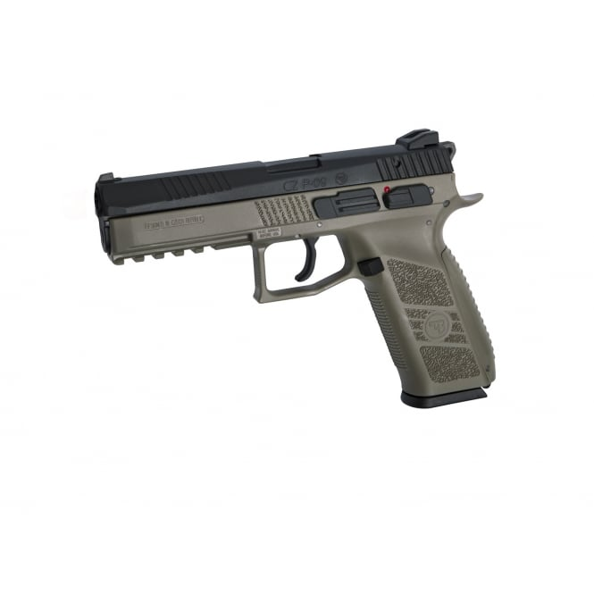 ASG CZ P-09 Gas Blowback Pistol with Hard Case - Flat Dark Earth
