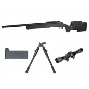 ASG M40A3 Black Sniper Rifle Package