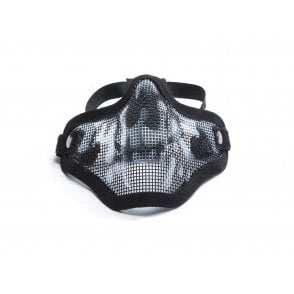 ASG Mesh Lower Face Protection Mask - Black Skull