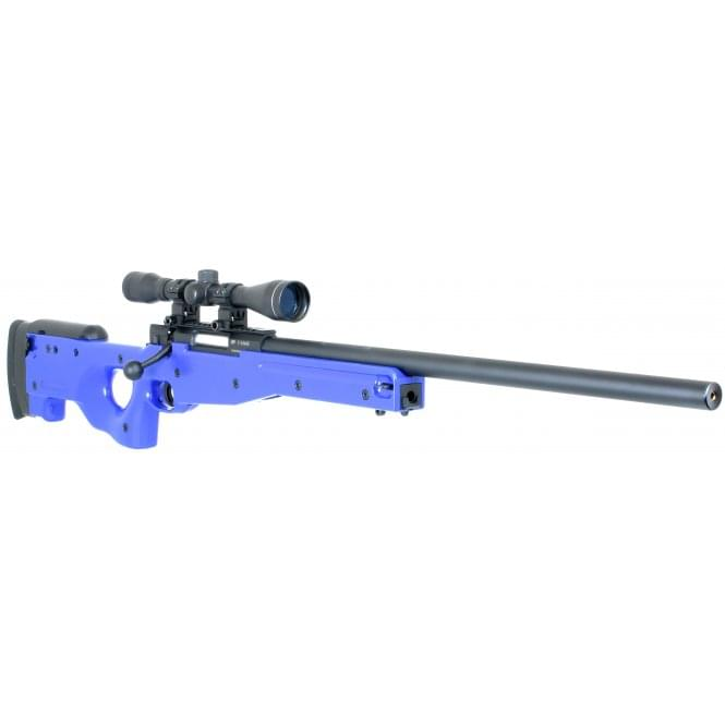 ASG AW .308 Sniper Rifle (Two Tone Blue) with 40mm Scope Package