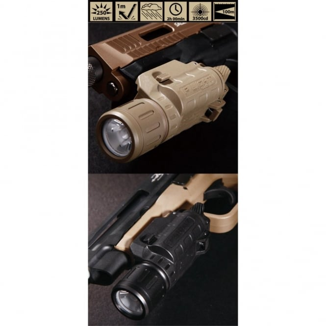 PTS Syndicate Airsoft Beta Project P Light Weapon Mounted Flashlight Black