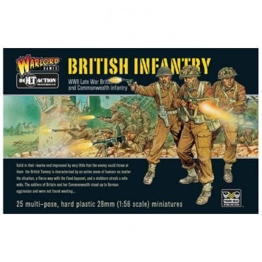 Bolt Action British Infantry 25 Miniatures