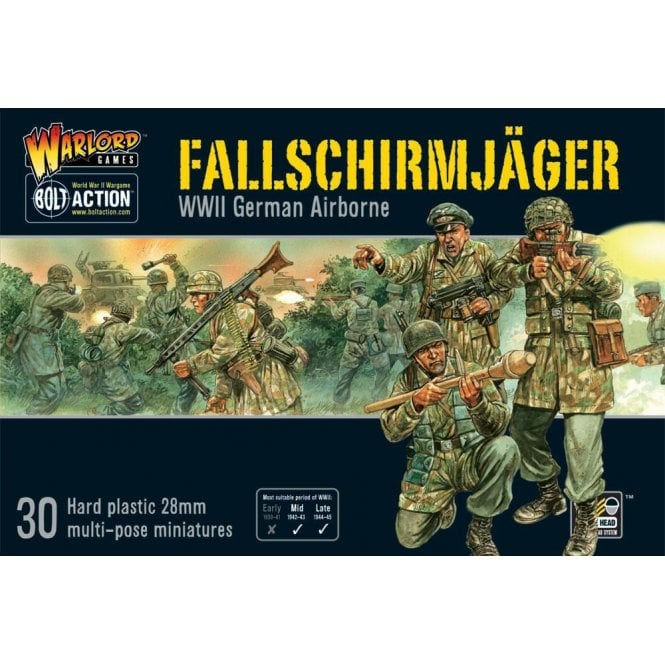 Warlord Games Bolt Action Fallschirmjager German Airborne 30 Miniatures