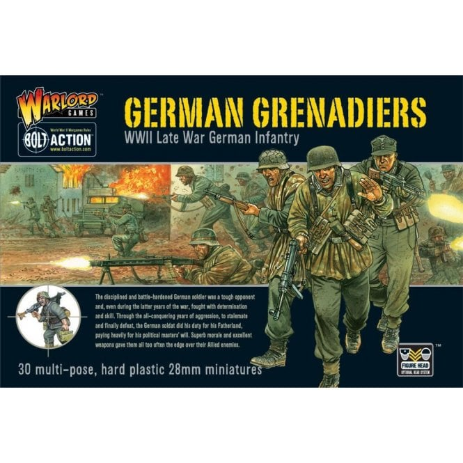 Warlord Games Bolt Action German Grenadiers 30 Miniatures