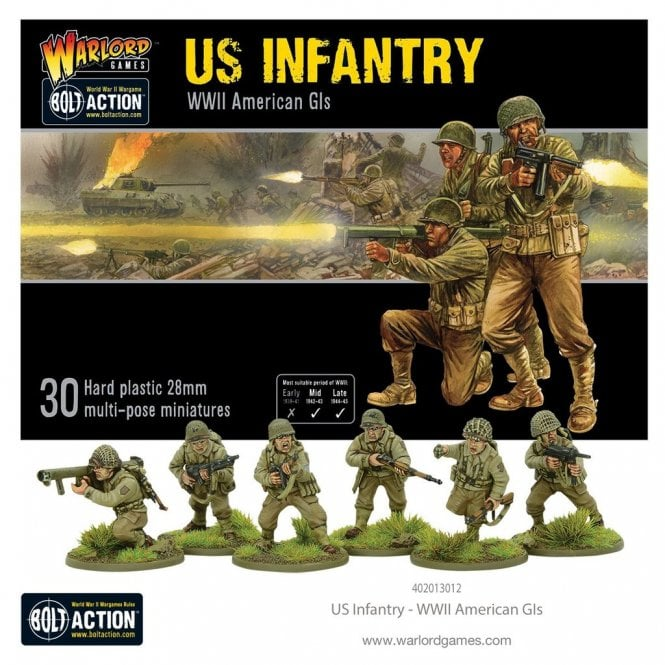 Warlord Games Bolt Action US Infantry 30 Miniatures