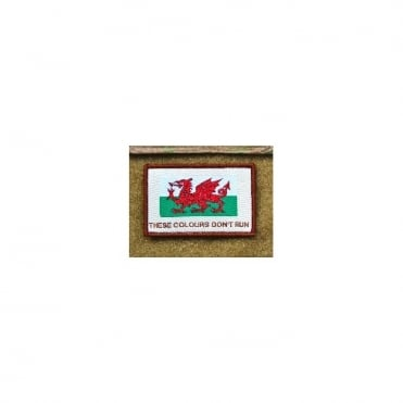 USA Woven Wales These Colours Don't Run Patch