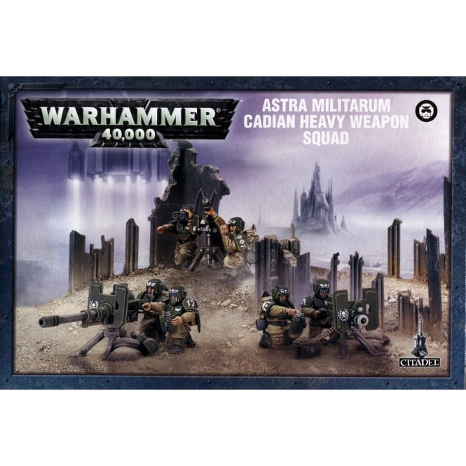 Games Workshop Cadian Heavy Weapons Squad Warhammer 40,000