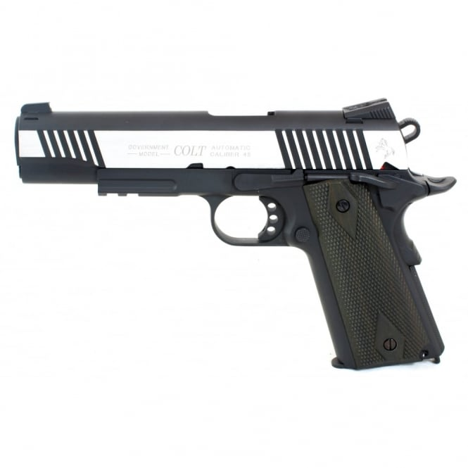 Cyber gun Colt 1911 Railed Gun Series CO2 Pistol - Dual Tone