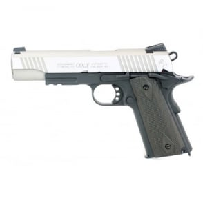 Colt 1911 Railed Gun Series CO2 Pistol - Silver slide