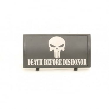Custom Rail Panel Punisher Death Before Dishonor - Black