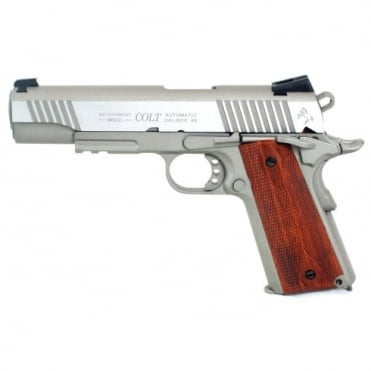 Cyber gun Colt 1911 Railed Gun Series CO2 Pistol - stainless