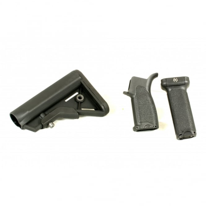 DYTAC Bravo Long Furniture Kit for M4 AEG Set Black