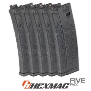 Dytac Hexmag 120 round Magazine for PTW - 5 Pack (Black)