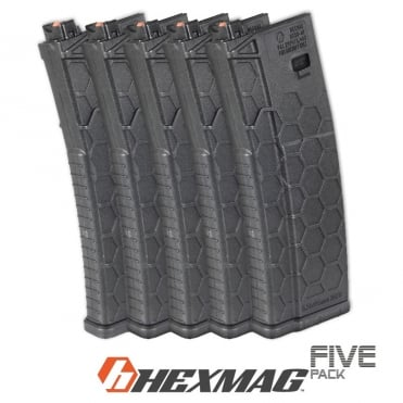 Dytac Hexmag 120 round Magazine for Systema PTW - 5 Pack (Black)