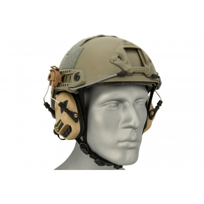 Earmor M31H MOD3 Electronic Hearing Protector for FAST Style Helmets - Tan