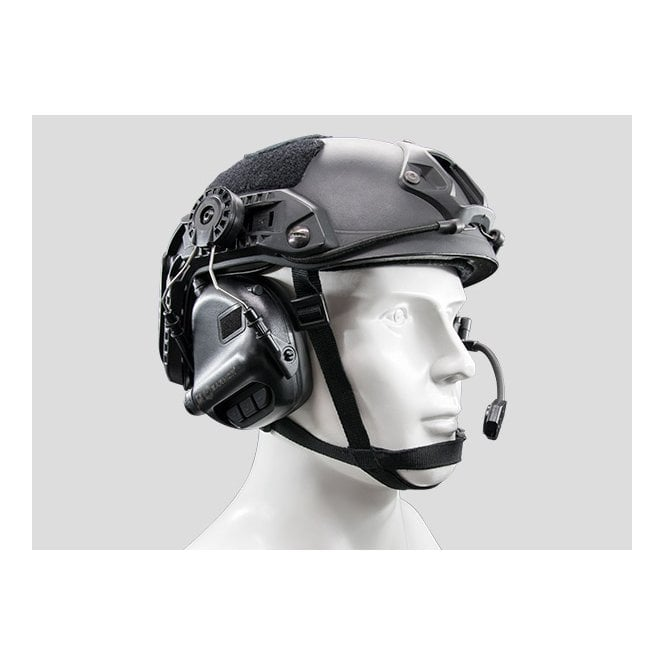 Earmor M32H MOD3 Electronic Communication Hearing Protector for FAST Style Helmets - Black