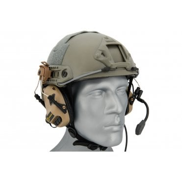 Earmor M32H MOD3 Electronic Communication Hearing Protector for FAST Style Helmets - Tan