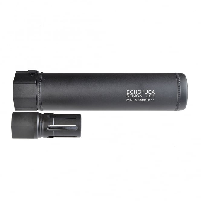 "Echo1 (Madbull) MK1 SR556 6.75"" Quick Detach Suppressor"