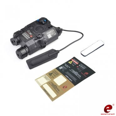 Element WADSN PEQ-15 LA-5C UHP Red Laser/Torch PEQ Unit - Black