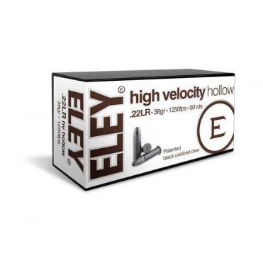 Eley High Velocity Hollow .22LR - Box of 50