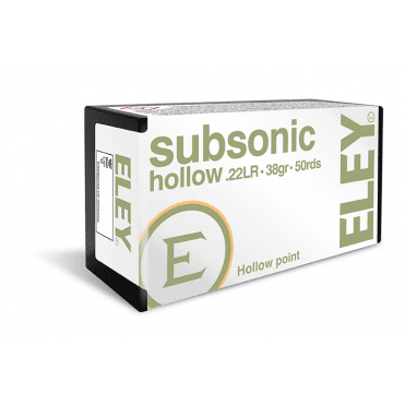 Eley Subsonic Hollow .22LR - Box of 50