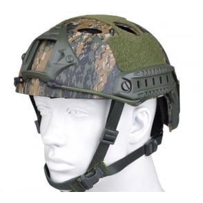 Emerson Fast FA Style Military Helmet Woodland Marpat
