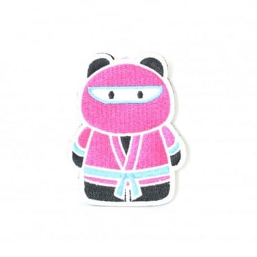 Epik Panda Ninja Patch - Pink / Teal