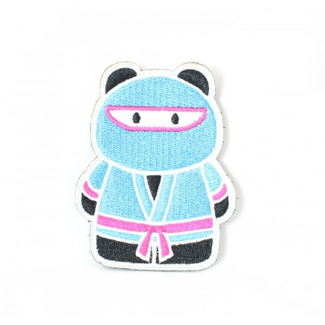 Epik Panda Ninja Patch - Teal / Pink