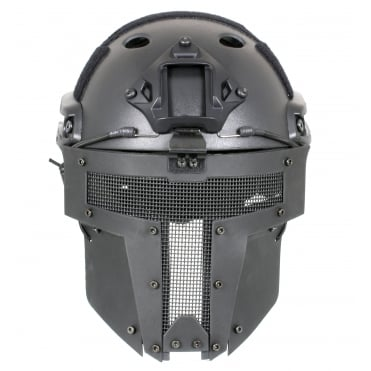 Fast Helmet with Spartan Mask Black