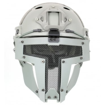 Fast Helmet with Spartan Mask Grey