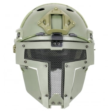 Fast Helmet with Spartan Mask Olive Drab