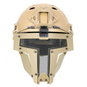 Fast Helmet with Spartan Mask Tan